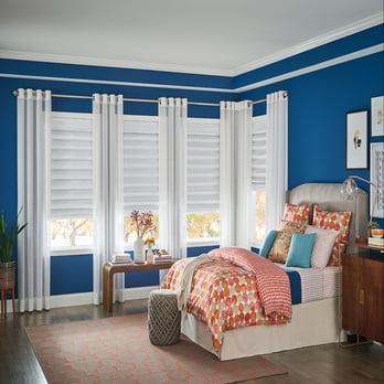 bedroom wooden blinds